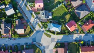 rzut osiedla domów jednorodzinnych