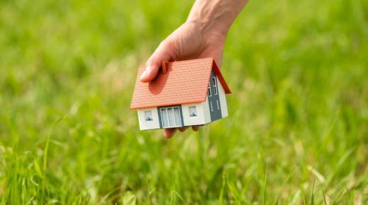 model małego domu nad trawą