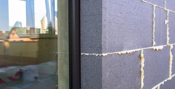 ściany zewnętrzne ocieplone styropianem