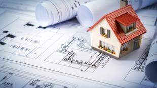 model domu na projekcie budowlanym